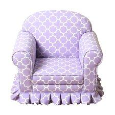 Modern Lavender Juvenile Skirted Chair