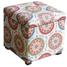 Fashion Upholstered Storage Cube Ottoman