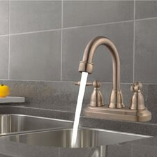 Centerset Three Hole Bathroom Faucet