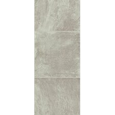 "Stones and Ceramics 11.81"" x 47.48"" x 8.3mm Tile Laminate in Slate Grey Stone"