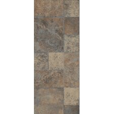 "Stones and Ceramics 15.94"" x 47.75"" x 8.3mm Tile Laminate in Weathered Way Roman Grey"