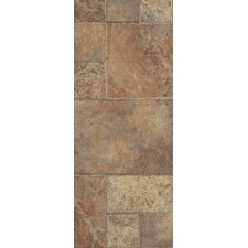 "Stones and Ceramics 15.94"" x 47.75"" x 8.3mm Tile Laminate in Weathered Way Earthen Copper"