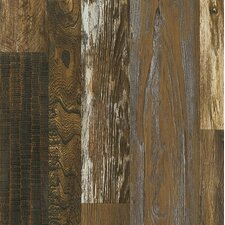 "Architectural Remnants 8"" x 48"" x 12mm Oak Laminate in Old Original Wood Brown"