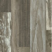 "Architectural Remnants 8"" x 48"" x 12mm Oak Laminate in Old Original Barn Gray"