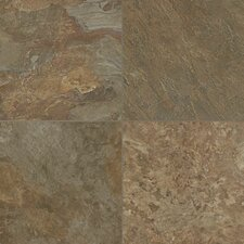 "Alterna Reserve Moselle Valley 16"" x 16"" x 4.06mm Luxury Vinyl Tile in Forest Green/Copper"