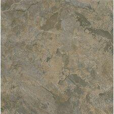 "Alterna Mesa Stone 16"" x 16"" Luxury Vinyl Tile in Gray/Brown"