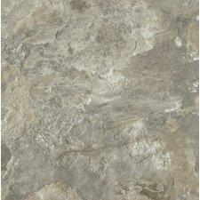 "Alterna Mesa Stone 16"" x 16"" Luxury Vinyl Tile in Light Gray"