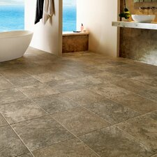 "Alterna Reserve Classico Travertine 16"" x 16"" x 4.06mm Luxury Vinyl Tile in Sandstone/Blue"