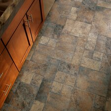 "Stones and Ceramics 15.94"" x 47.75"" x 8.3mm Tile Laminate in Weathered Way Euro Terracotta"
