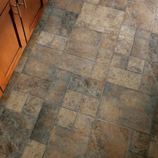 """Stones and Ceramics 15.94"""" x 47.75"""" x 8.3mm Tile Laminate in Weathered Way Roman Grey"""