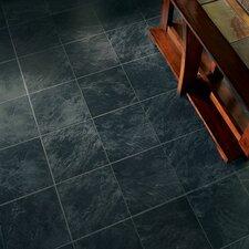 "Stones and Ceramics 11.81"" x 47.48"" x 8.3mm Tile Laminate in Slate Ebony Mist"