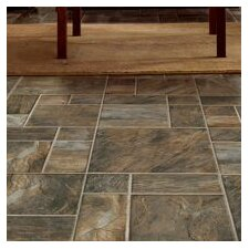 "Stones and Ceramics 15.945"" x 47.756"" x 8mm Tile Laminate"