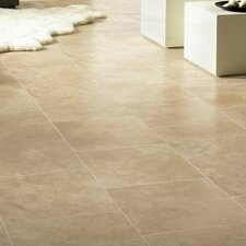 "Stones and Ceramics 15.94"" x 47.75"" x 8.3mm Tile Laminate in Limestone Tawny Beige"