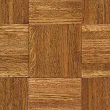 "Urethane Parquet 12"" Solid Oak Parquet Hardwood Flooring in Honey"