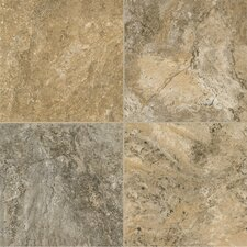 "Alterna Reserve Classico Travertine 16"" x 16"" x 4.06mm Luxury Vinyl Tile in Cameo Brown/Gray"