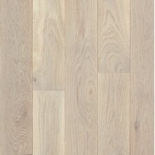 "Turlington Signature Series 3"" Engineered Northern White Oak Hardwood Flooring in Antiqued White"