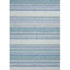 C. L. Dhurries Blue Stripe Area Rug