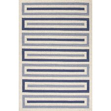 Grant Ivory/Blue Geometric Indoor/Outdoor Area Rug