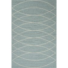 Grant Blue/Ivory Geometric Indoor/Outdoor Area Rug
