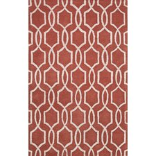 City Red / Ivory Area Rug