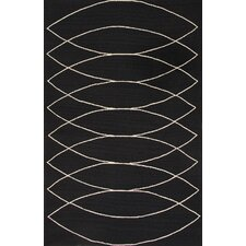 Grant Black/Ivory Geometric Indoor/Outdoor Area Rug