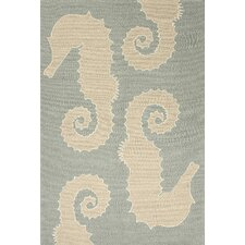 Grant Blue/Ivory Indoor/Outdoor Area Rug