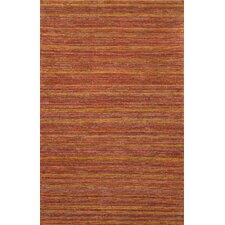 Hula Stripe Rust Area Rug