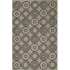 Grant Ivory/Black Geometric Indoor/Outdoor Area Rug