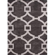 City Dark Gray / Ivory Geometric Area Rug