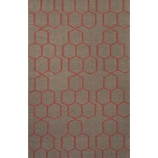 Maroc Brown and Red Area Rug