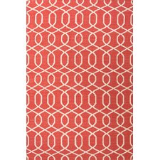Urban Bungalow Geometric Red/Ivory Rug