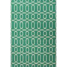 Urban Bungalow Geometric Green/Ivory Rug