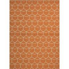 Barcelona Estrellas Orange Indoor/Outdoor Area Rug