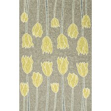 Grant Gray & Yellow Floral Indoor/Outdoor Area Rug