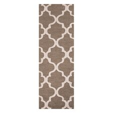 City Brown / Ivory Geometric Area Rug