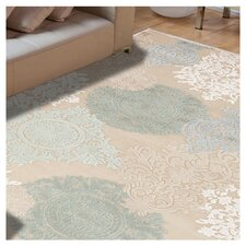 Fables Cream & Blue Floral Area Rug