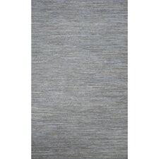 Ann Cotton Solids/Handloom Blue Area Rug