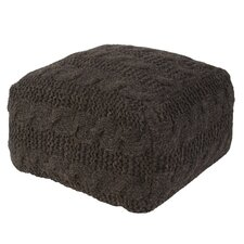 Milford Solid Wool Pouf Ottoman