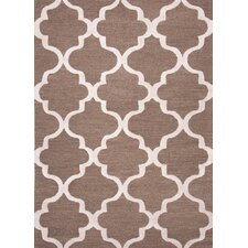 City Beige / Brown Geometric Area Rug