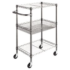 "36"" Wire Shelving 3 Tier Utility Cart"