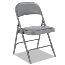 Steel Folding Chair with Padded Back/Seat (Set of 4)
