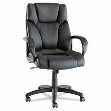 Fraze High-Back Swivel/Tilt Chair in Black Leather