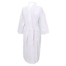 Terry Velour Kimono Collar Bathrobe