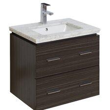 "24"" Single Modern Wall Mount Bathroom Vanity Set"