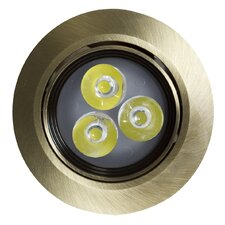 "Round Brass-LED 3.5"" Recessed Lighting Kit"