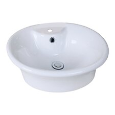 Oval Vessel Sink with Overflow