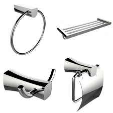 4 Piece Bathroom Hardware Set
