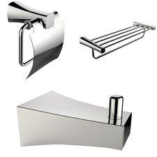 3 Piece Bathroom Hardware Set