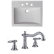"Omni 21"" Ceramic Vanity Top Set"