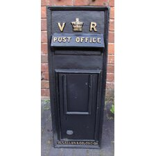 Replica Royal Mail Victoria Regina Post Box with Lock
